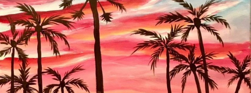 Wine & Canvas Painting Class: Mission Beach Sunset