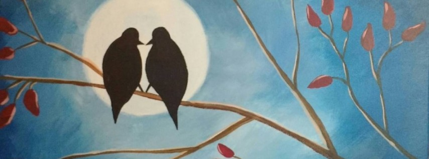 Wine & Canvas Painting Class: Forever Love