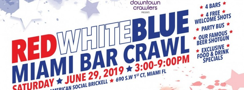 Red, White and Blue Bar Crawl with Party Bus
