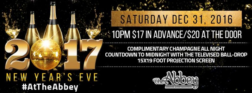 New Year's Eve at the Abbey 2017, Orlando FL - Dec 31 ...