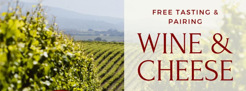 Complimentary Talbott Vineyards Wine and Cheese Pairing