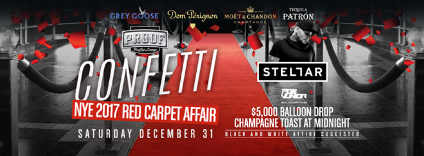 Confetti NYE 2017 Red Carpet Affair