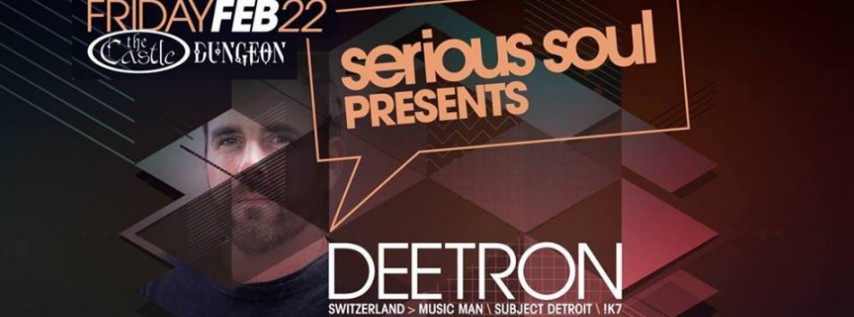 Deetron (Subject Detroit : Music Man) in The Dungeon