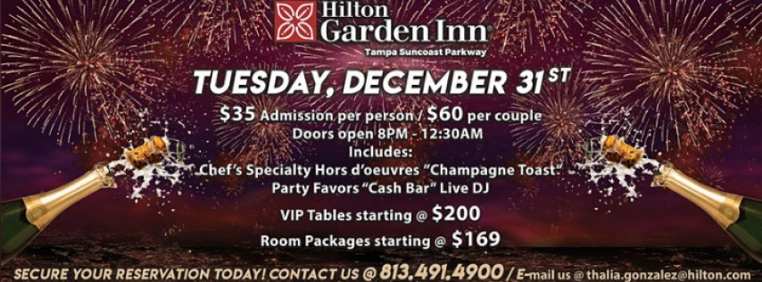 New Year's Eve Celebration @ Hilton Garden Inn Tampa Suncoast Parkway
