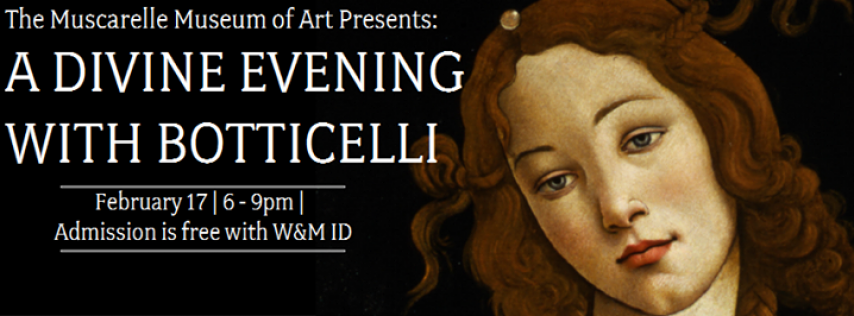 MMA Presents: A Divine Evening with Botticelli