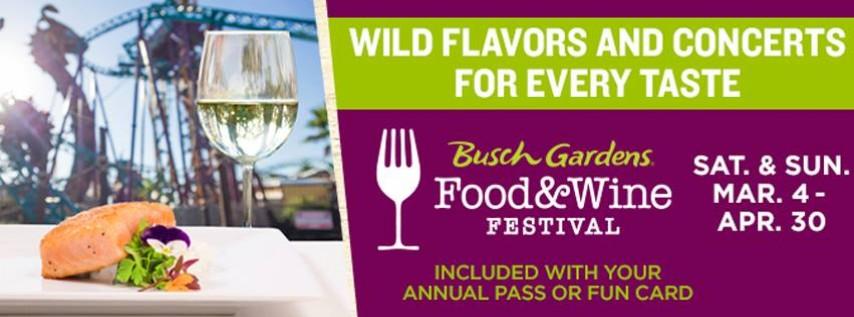 2017 Busch Gardens Food U0026 Wine Festival