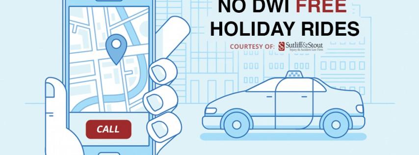 No DWI Free Holiday Rides - St. Patty's Day 2017