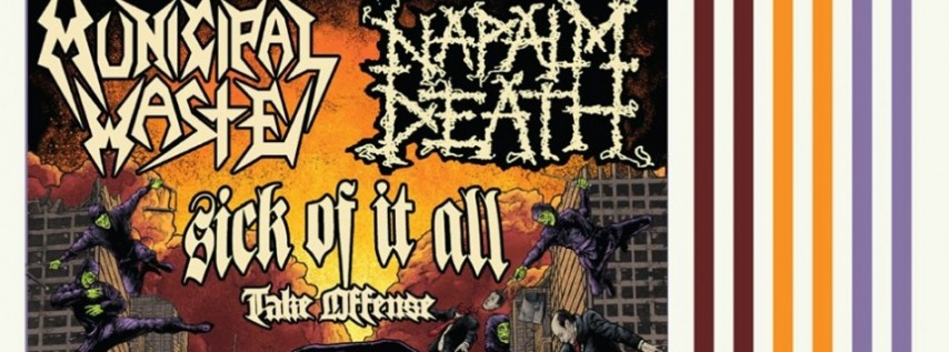 Municipal Waste and Napalm Death at Mohawk