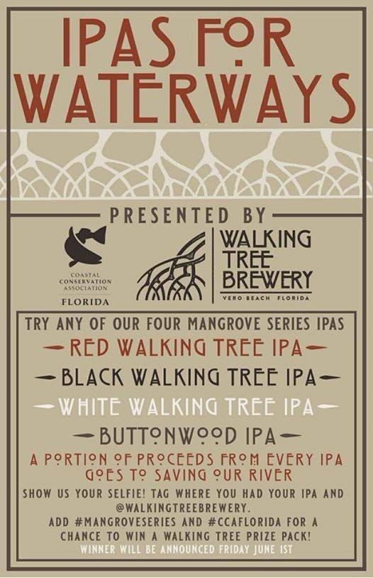 Walking Tree Brewing/CCA IPA's for Waterways Month at Roque Pub