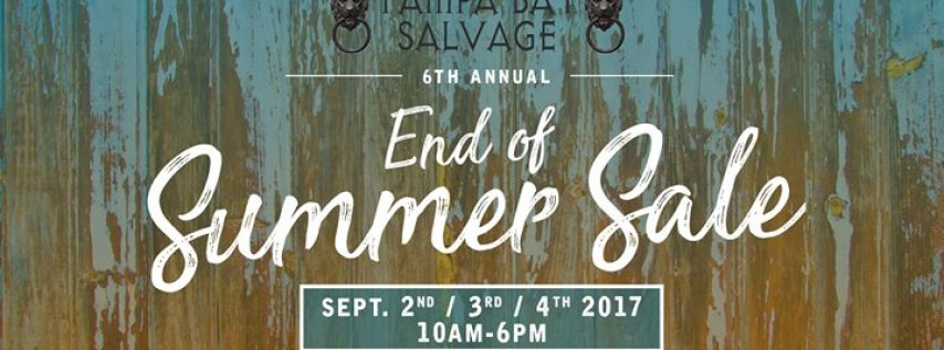 6th Annual End Of Summer Sale