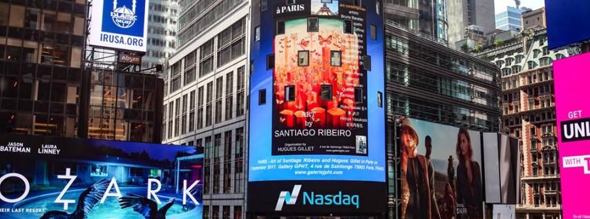 art from Santiago Ribeiro at Times Square NY