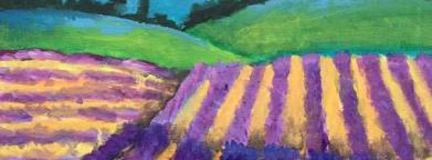 Wine & Canvas: Lavender Fields