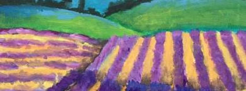 Wine & Canvas: Lavender Fields