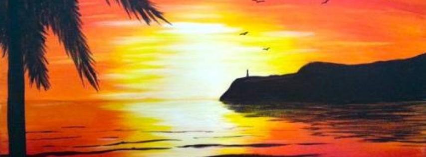 Wine & Canvas: Coronado Sunset - Happy Hour til 7pm & New Menu!