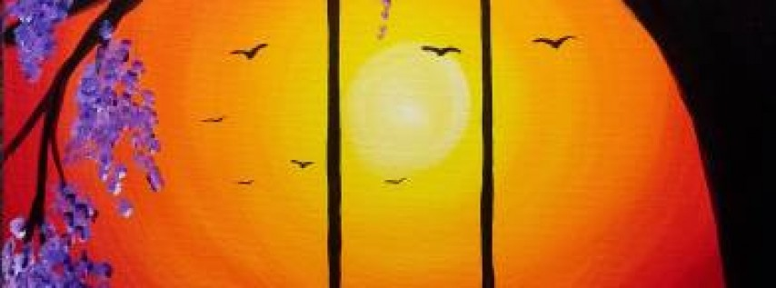 Wine & Canvas: Sunset Swing