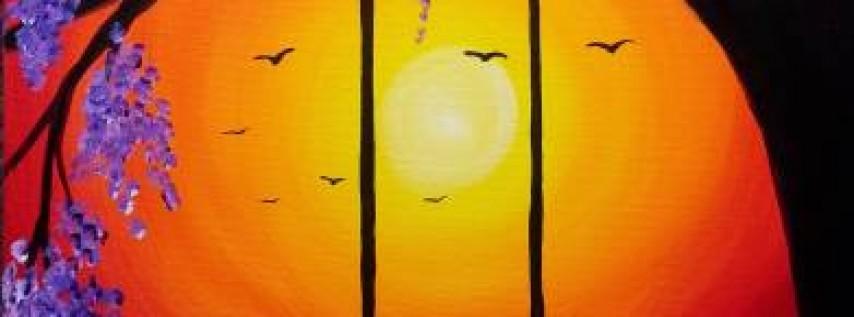 Wine & Canvas: Sunset Swing