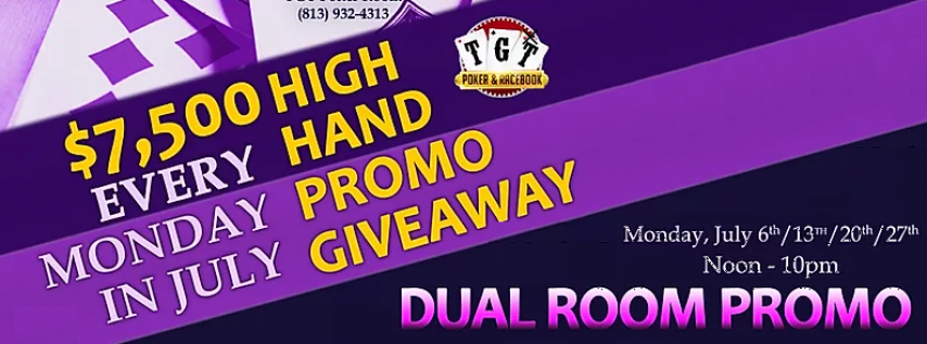 TGT & Silks Poker Room Dual Room Promo - July 13th