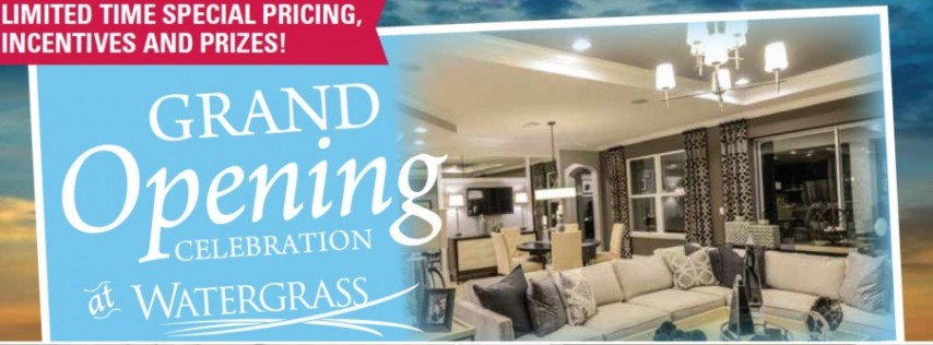 You're Invited! Taylor Morrison Homes at WaterGrass Grand Opening Celebration