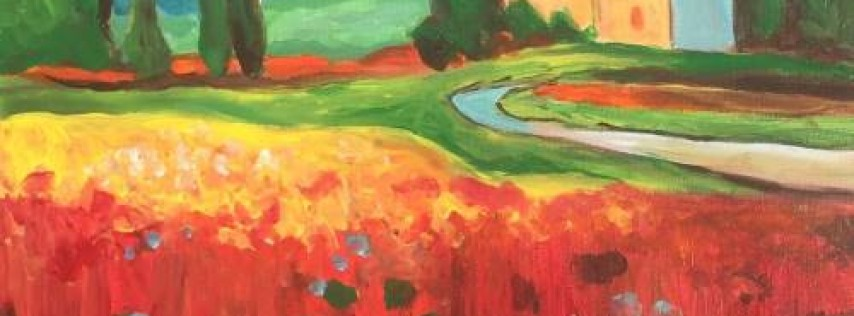 Wine & Canvas: France Poppies