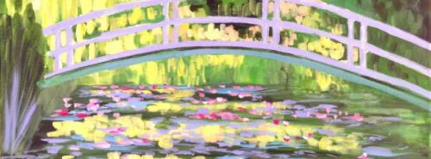 Wine & Canvas: Monet's Bridge