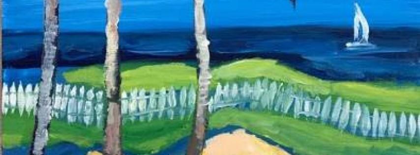 Wine & Canvas: Beach Palm Trees