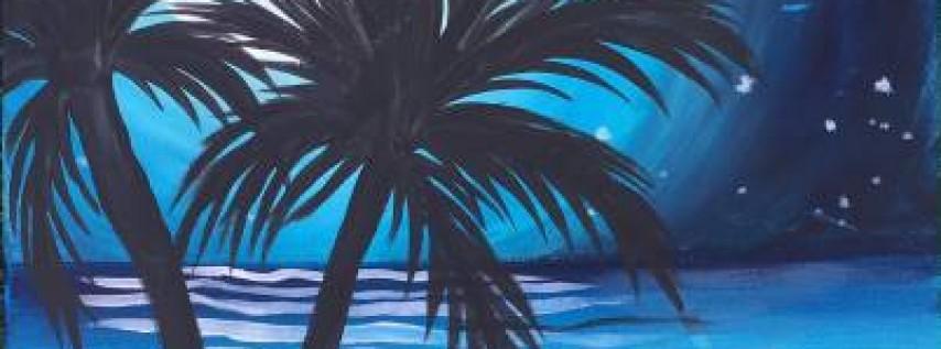 Wine & Canvas: Blue Lagoon