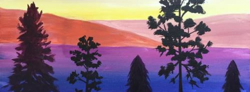 Wine & Canvas: Evening in the Mountains