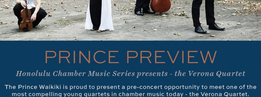 Prince Preview - Honolulu Chamber Music Series