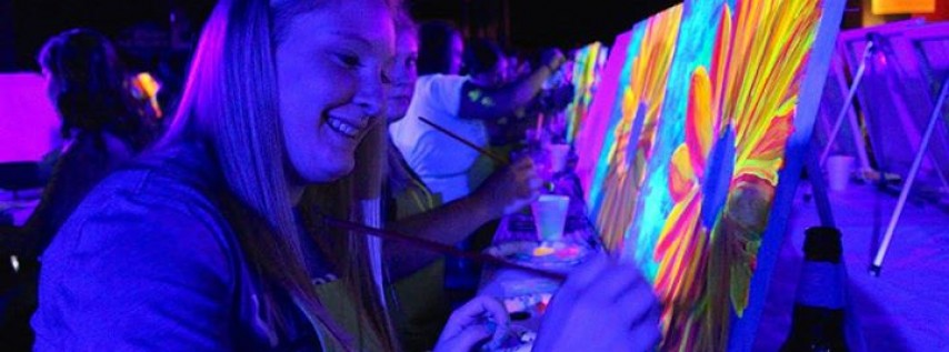 Art Night Out: Glow w/the Flow! Black Light Painting