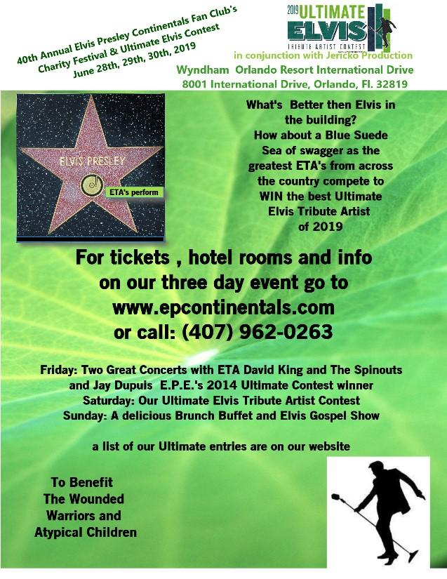 Elvis Presley Charity Festival and Elvis Ultimate Contest
