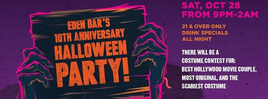 Eden Bar's 10th Anniversary Halloween Party!