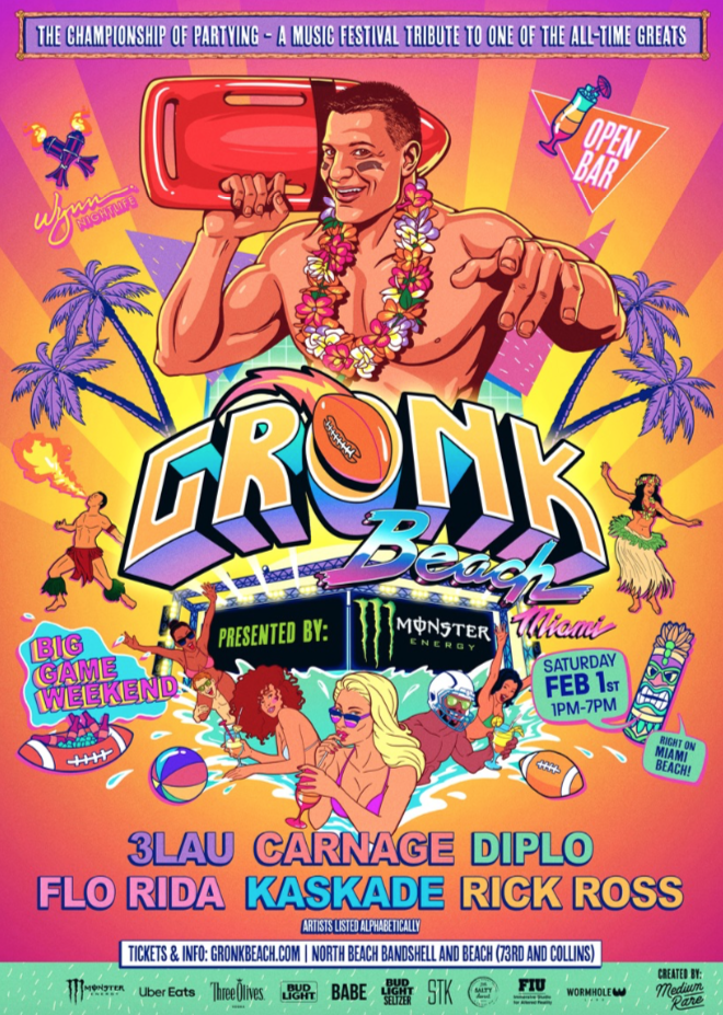 Gronk Beach : Rob Gronkowski announces inaugural big game weekend miami beach party