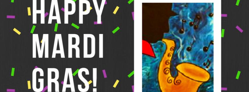 Mardi Gras! BYOB/Wine Painting Celebration!