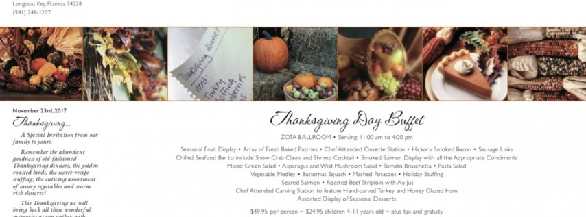 Thanksgiving Brunch at Viento Kitchen & Bar at Zota Beach Resort