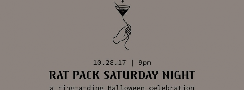 Rat Pack Saturday Night at Sugar East: a ring-a-ding Halloween celebration