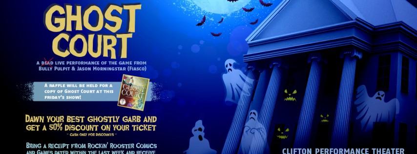Halloween Comedy Improv Show - Ghost Court - By Improv Cincinnati