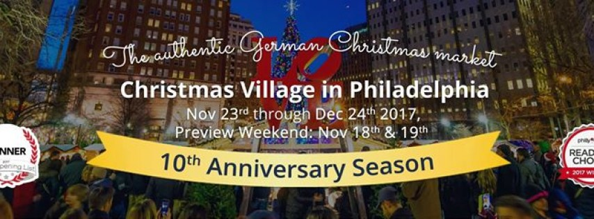 Christmas Village Philadelphia.Christmas Village In Philadelphia 2017 At Love Park