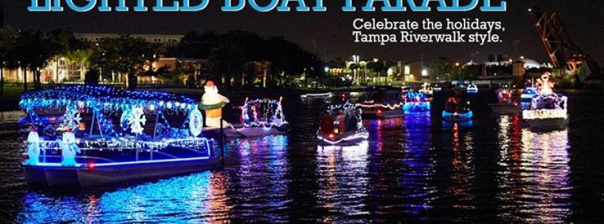 Tampa Riverwalk Holiday Boat Parade of Lights 2018