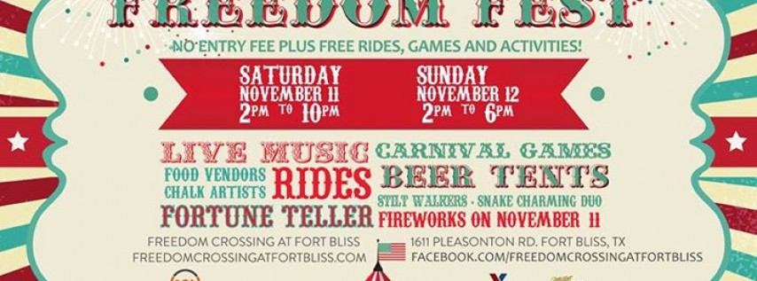 Freedom Fest at Fort Bliss - Free Carnival Veterans Day Weekend!