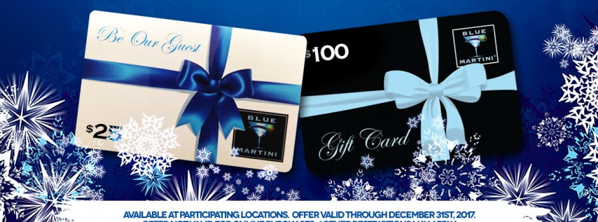 GiftCard Holiday Ad 2017! Blue Martini Lounge