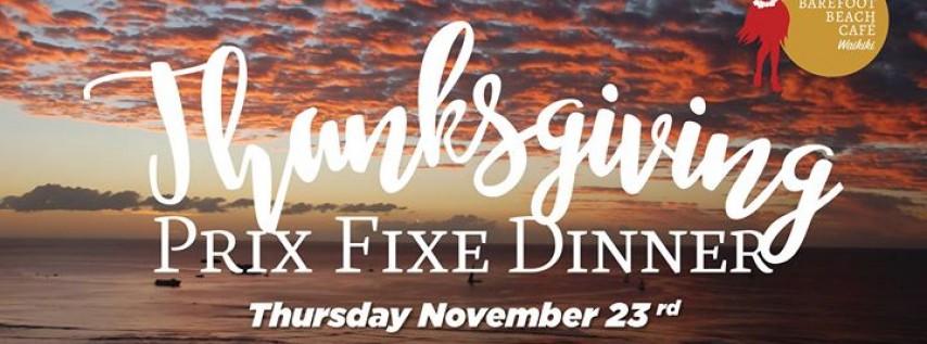 Thanksgiving Prix Fixe Dinner