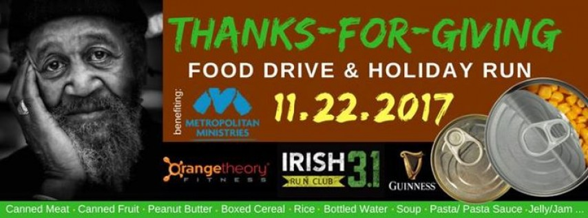 Thanks-for-Giving Food Drive & Holiday Run