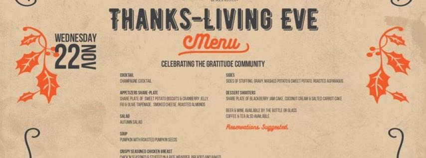 Thanks-Living Eve Dinner