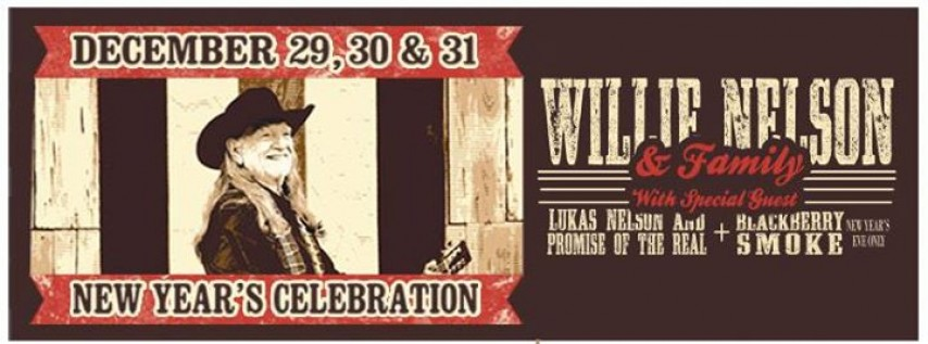 Third Show! Willie Nelson & Family New Year at ACL Live
