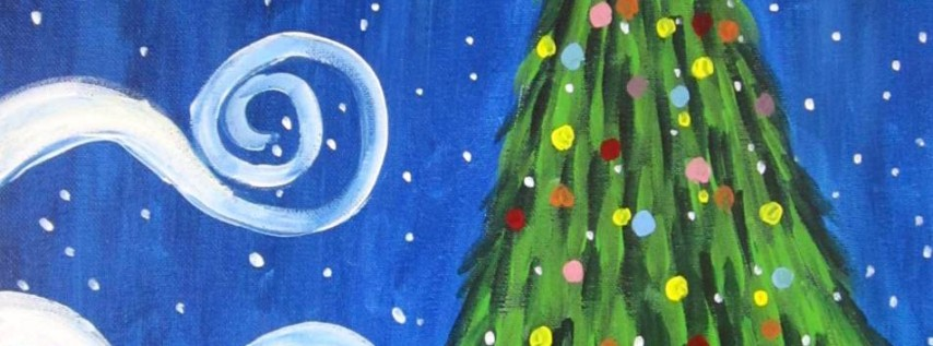 Cookies & Canvas: Painting Class: Swirly Christmas