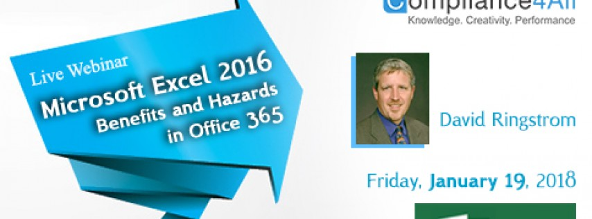 Excel - Benefits and Hazards in Office 365