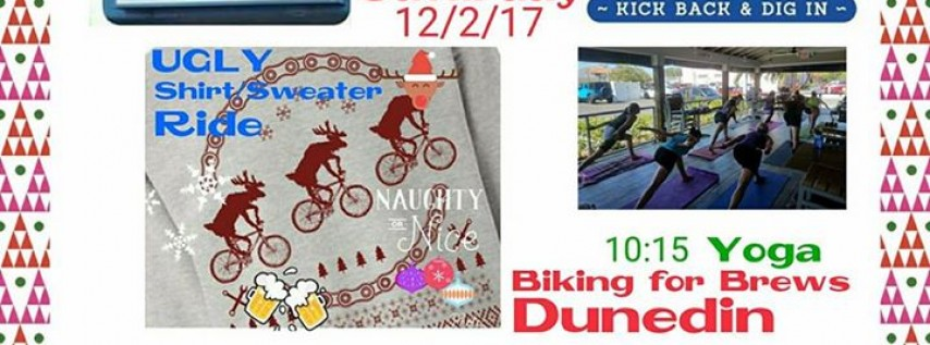 Biking for Brews Dunedin UGLY Shirt/Sweater Ride