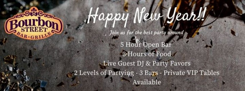 New Years Eve Bash at Bourbon Street NYC