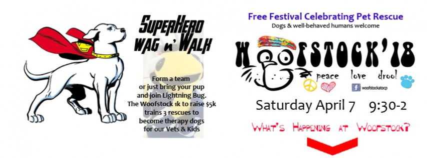 Woofstock'18 Spring to benefit Rescue Therapy Dogs