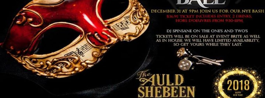 The Auld Shebeen New Year's Eve Masquerade Ball
